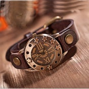 Image of Vintage Leather Wrist Watch for Man & Woman (WAT0246)