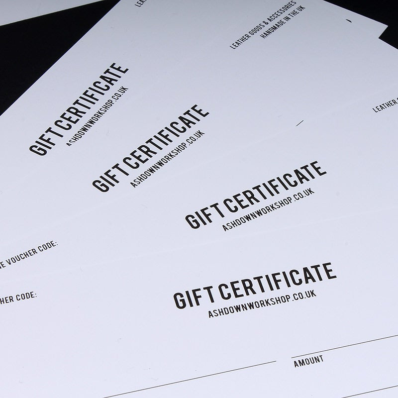 Image of Ashdown Workshop Gift Certificate