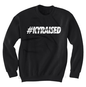 "Image of KY Raised Crewneck ""Hashtag"" Sweatshirt in Black & White (Discontinued Style)"