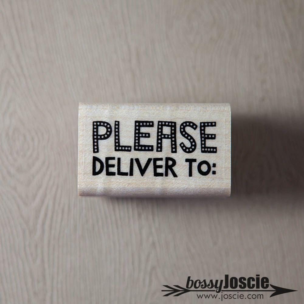 Image of Please Deliver to Dots Stamp