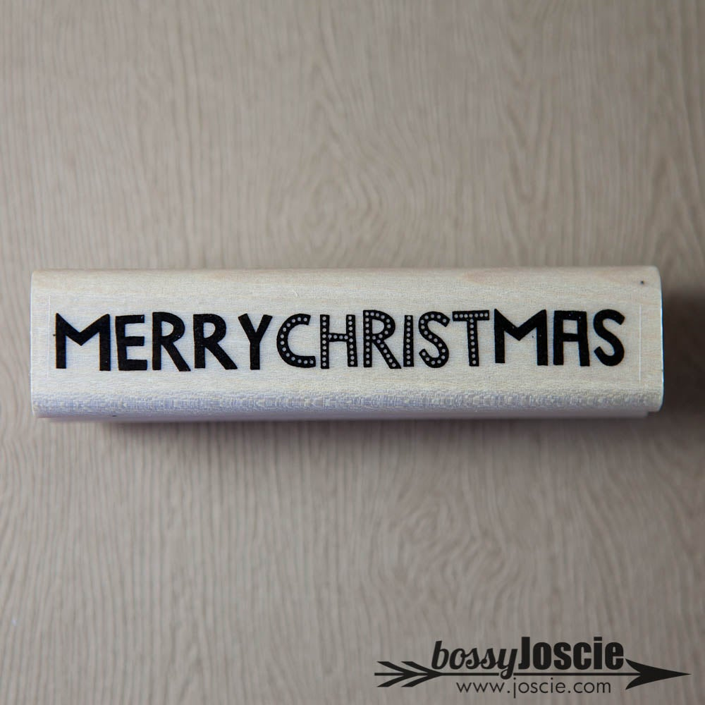 Image of Merry Christmas Dots Stamp