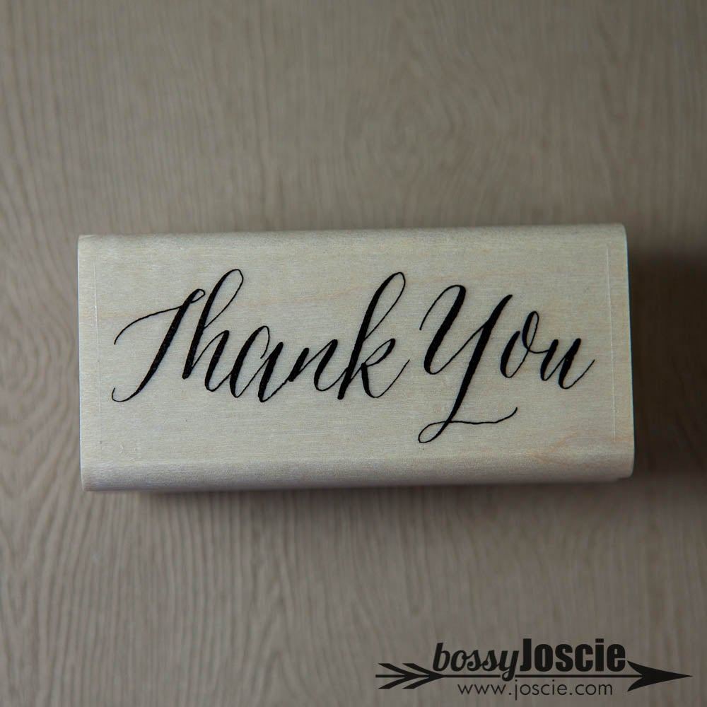 Image of Thank You Calligraphy Stamp