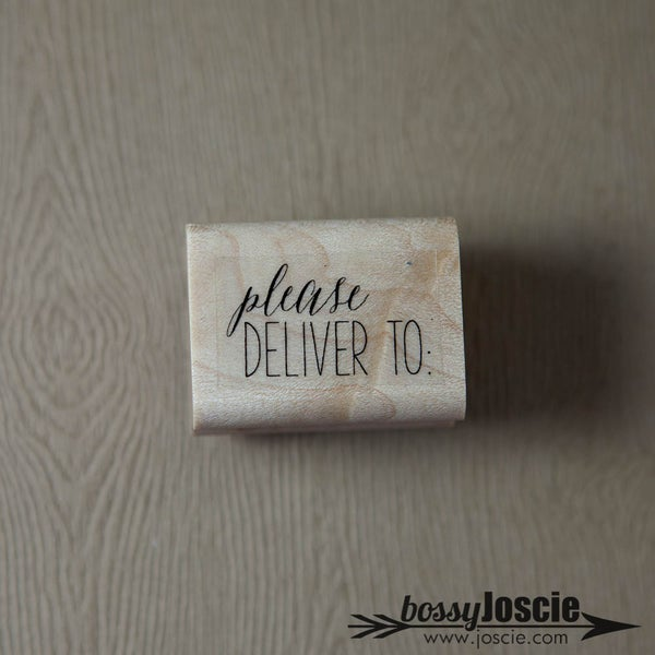 Image of Please Deliver To Calligraphy Stamp