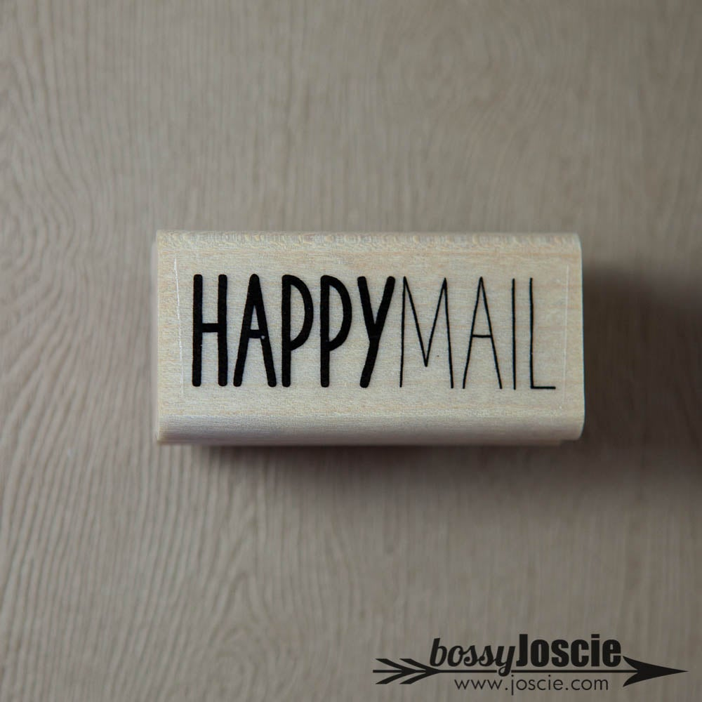 Image of Happy Mail handwritten Stamp