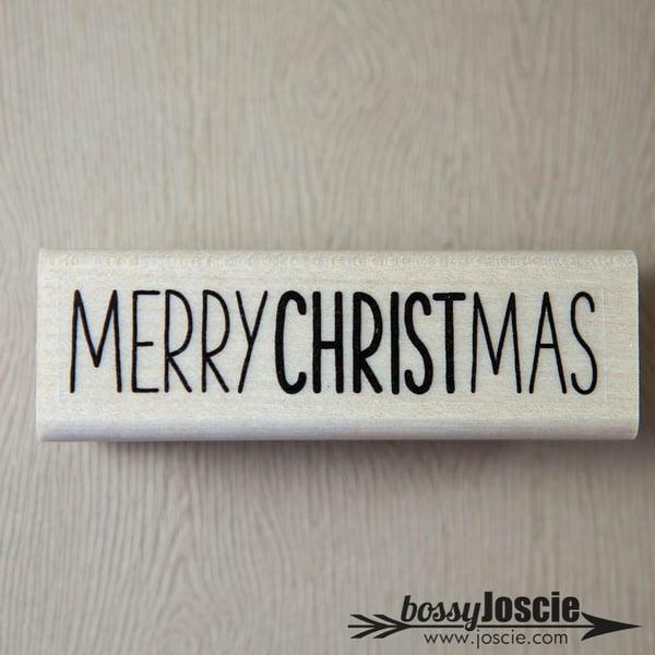 Image of Merry Christmas Handwritten Stamp