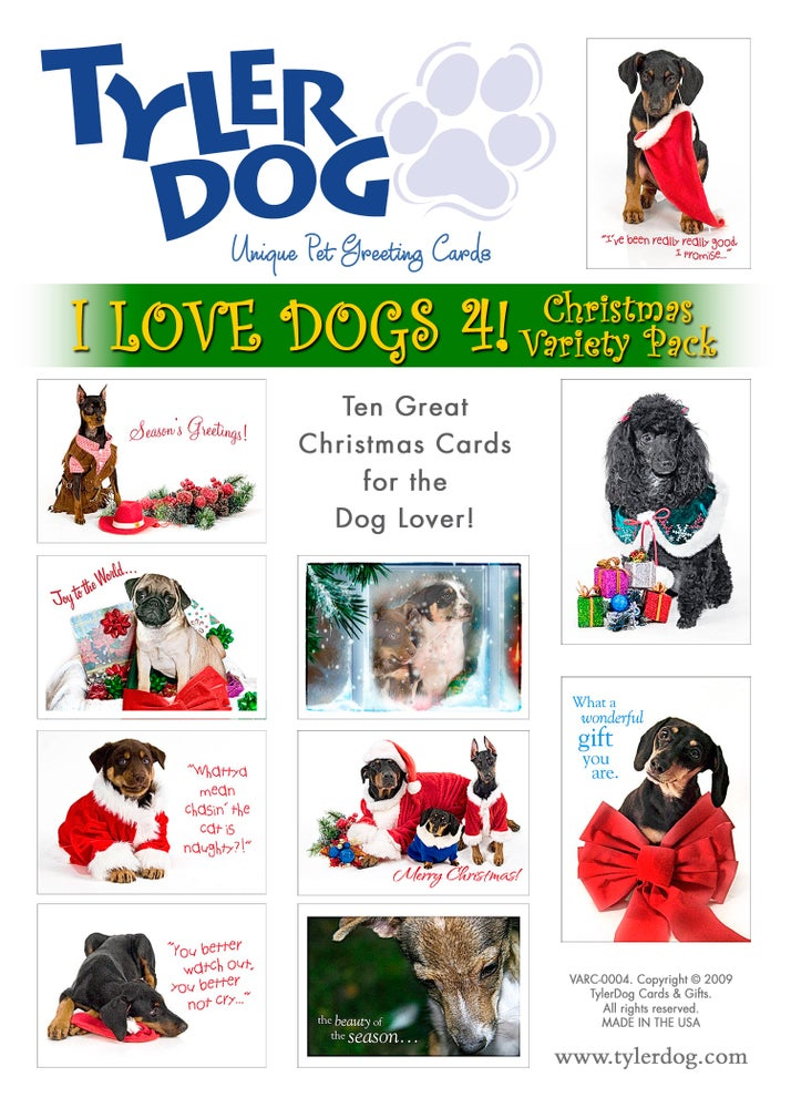 TylerDog Cards & Gifts | I Love Dogs 4! Christmas Variety Pack