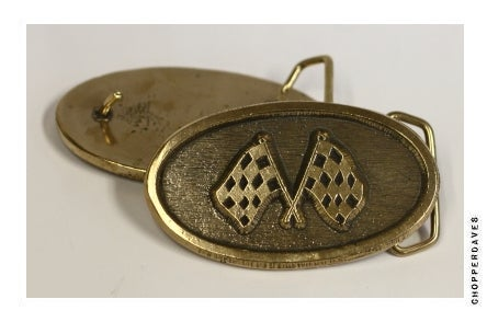 Image of The Crossed Flag Buckle