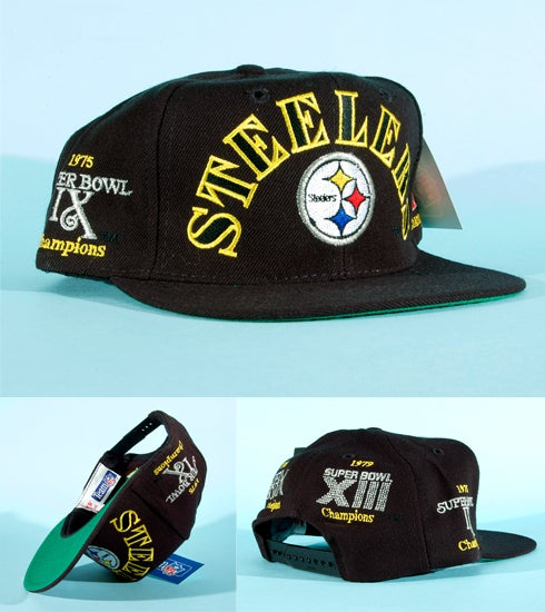Image of RARE Vintage 90s Pittsburgh Steelers Super Bowl championship  snapback da9fba04646