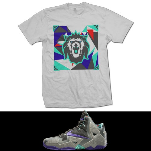 Image of LEBRON 11 TERRACOTTA WARRIOR LION heART T SHIRT - GREY -