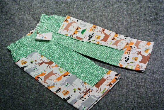 Image of Organic Ed Emberley Panel Pants Size 2T - OOAK