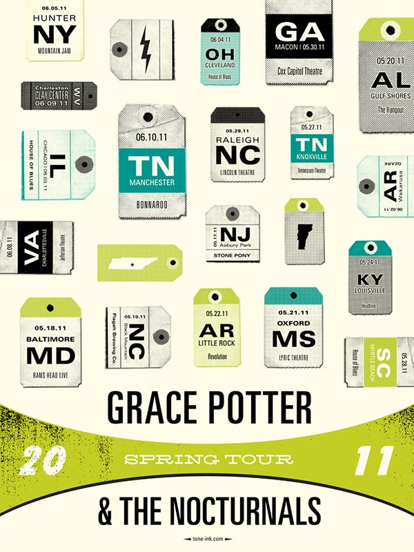 Image of Grace Potter & The Nocturnals - Spring Tour 2011