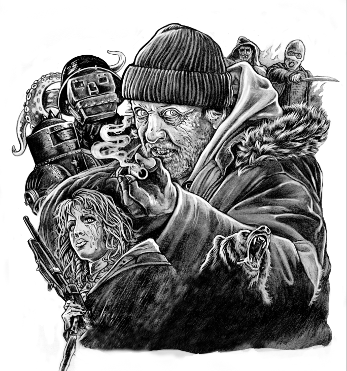 Image of Hobo With A Shotgun original drawing