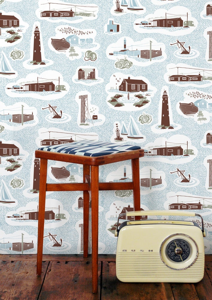 Image of Dungeness Wallpaper - Chalkhill Blue