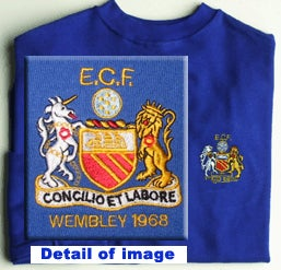 Image of European Cup Final 1968 replica (long sleeve). Embroidered.