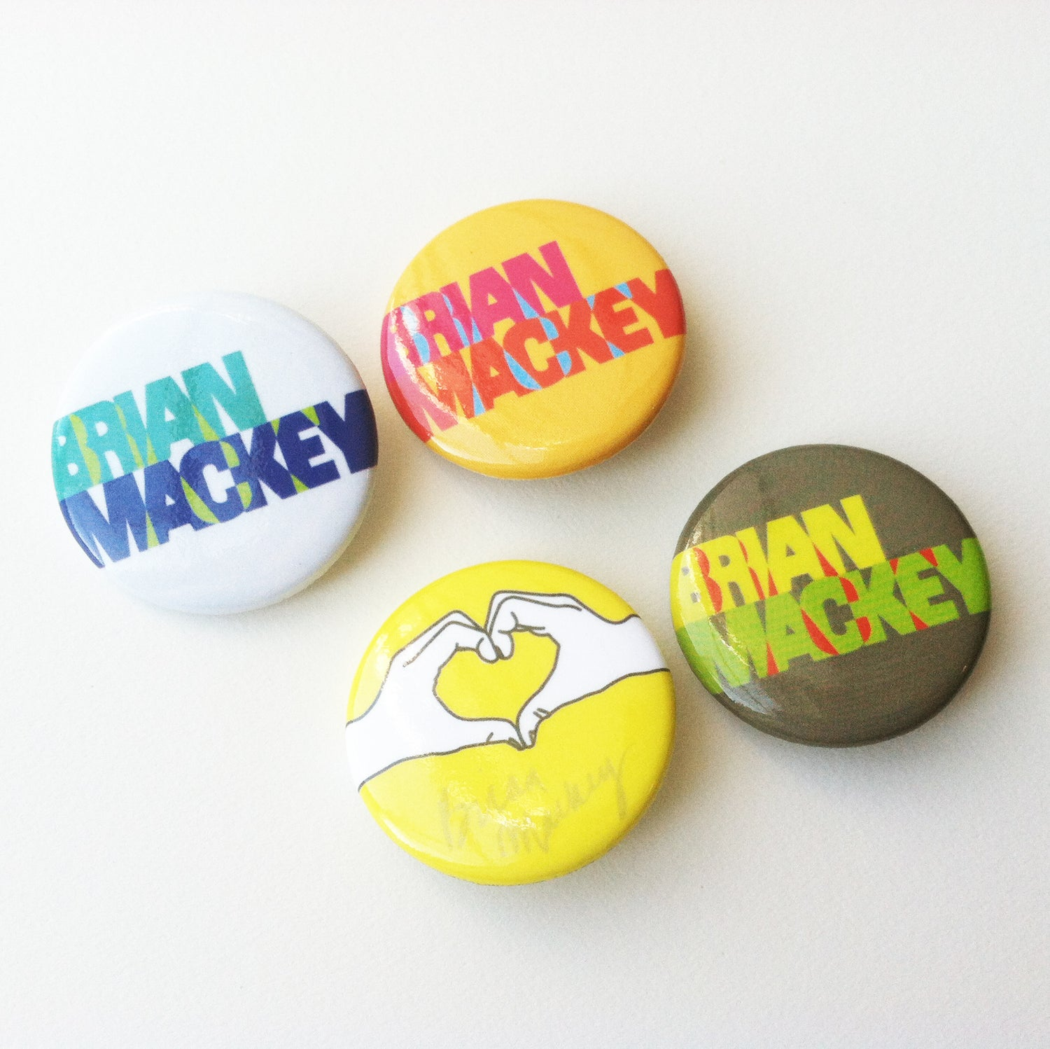 Image of Brian Mackey Logo Button Pack