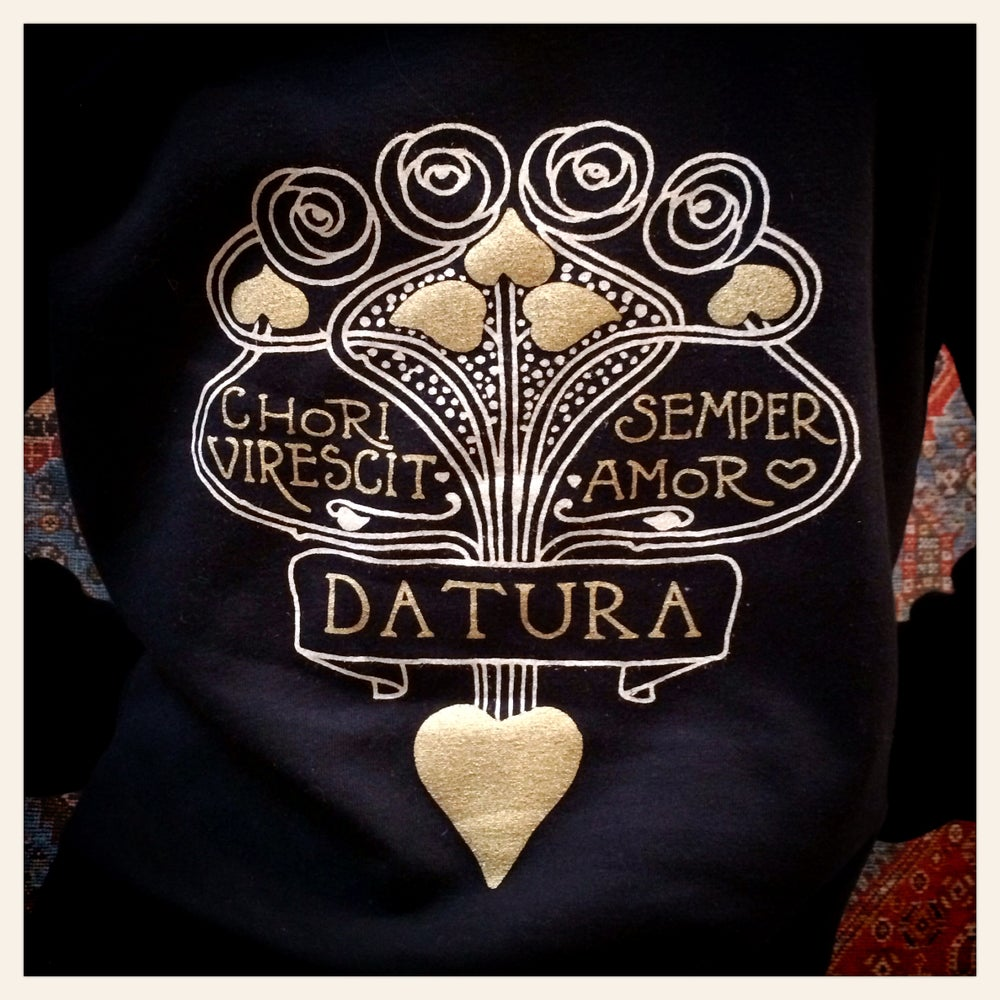 "Image of ""Daturamour"" Fleece Hoody"