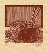 Image of Noodle Bowl Lino-cut