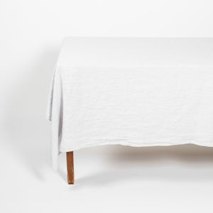 Image of Linen Tablecloth Grey