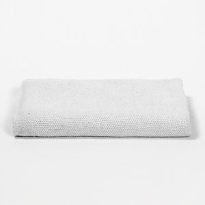 Image of Knitted Denim Throw Off-White
