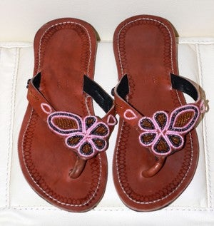 Image of HANDMADE MAASAI SANDALS UK SIZE 5