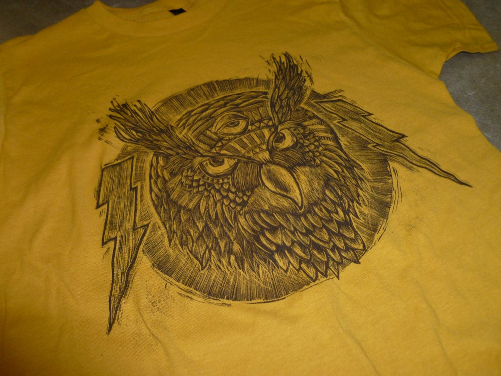 Spirit Owl TCB Tee Ginger Gold