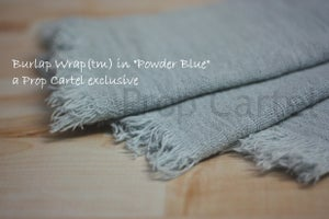 "Image of Burlap Wrap ""Powder Blue"" BW13007"