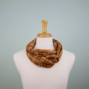 Image of Cayenne Plaid Circle Scarf
