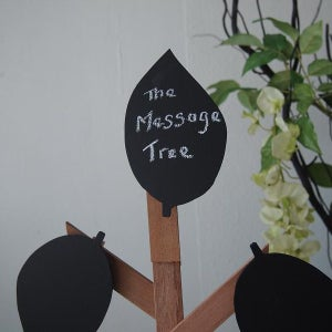 Big Wooden Message Tree