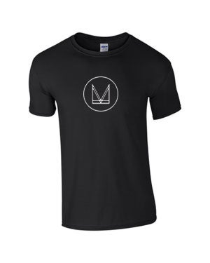 Image of 'M' T SHIRT - BLACK