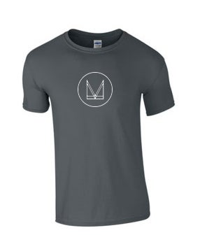 Image of 'M' T SHIRT - CHARCOAL