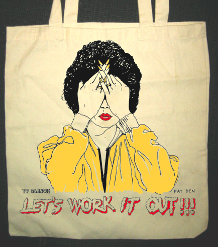 Image of LET'S WORK IT OUT MARIE OSMOND TOTE BAG. CURRENTLY SOLD OUT