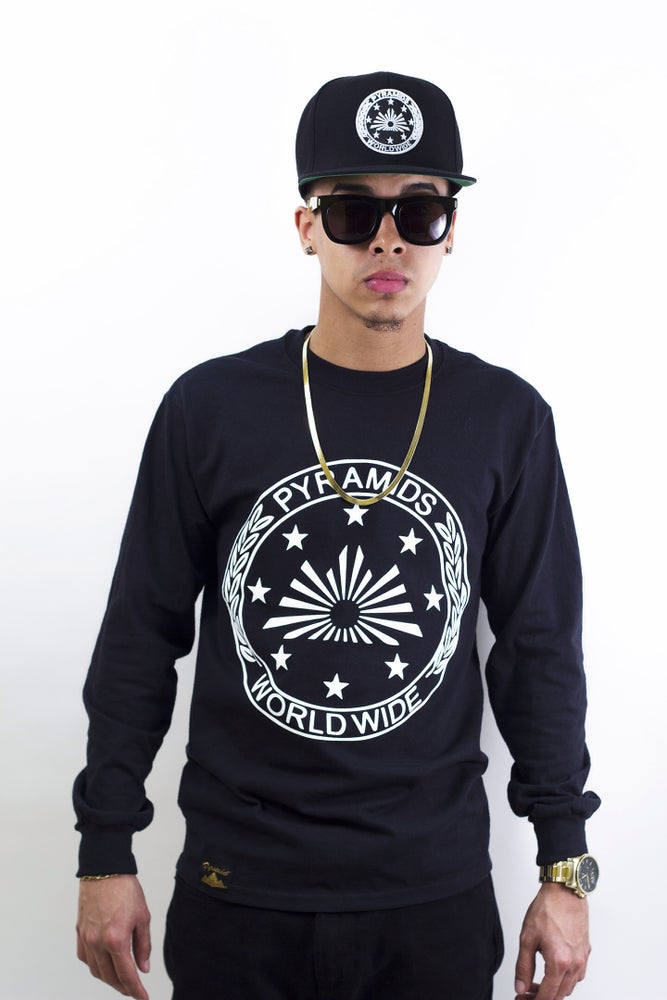 "Image of ""Pyramids Worldwide "" Long Sleeve Shirt"