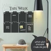 Image of Weekly Chalkboard Wall Calendar