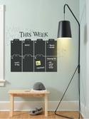 Weekly Chalkboard Wall Calendar