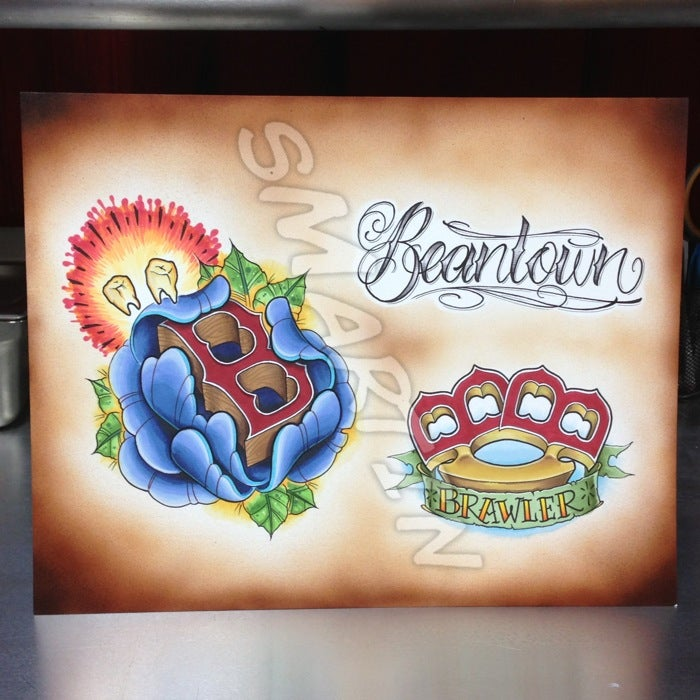 Image of Boston Tattoo Flash