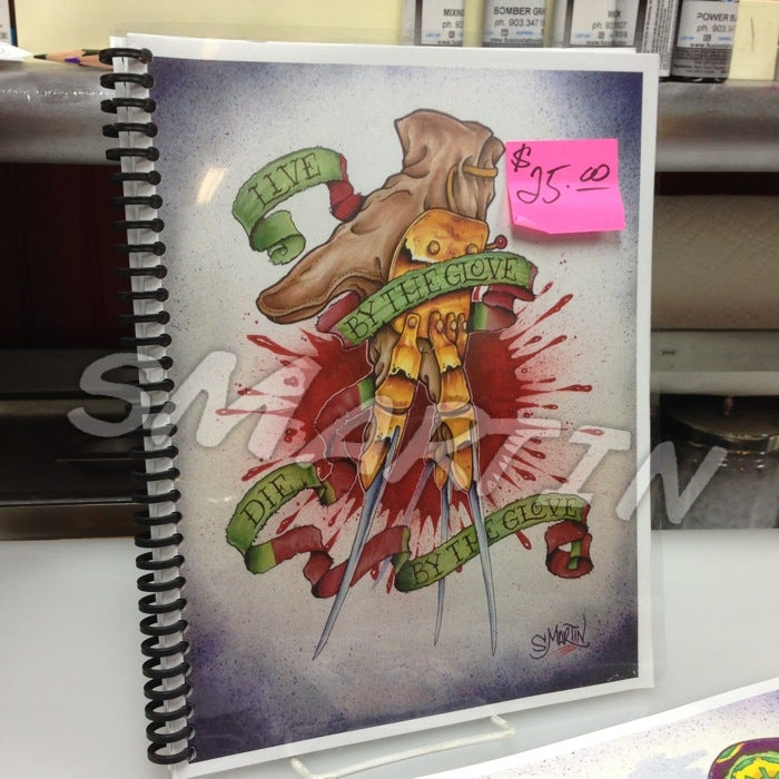 """Image of """"Live by the Glove, Die by the Glove"""" ART book"""
