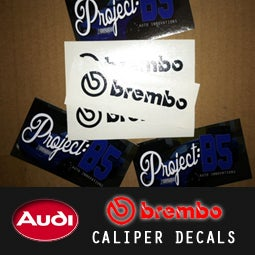 Image of PROJECT:B5 - BREMBO Caliper Decals *17z/18z & MORE!