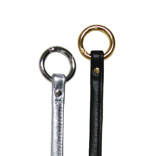 Image of Leather Key Fob Tether - Your Choice of Leather Color & Gold or Nickel #16C LG Attachable Hooks