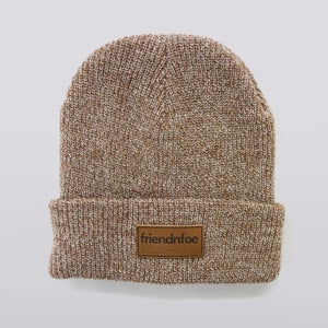 Image of Oatmeal Heather Patch Beanie