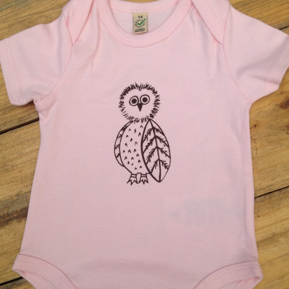 Image of Owl 100% Organic cotton onesies