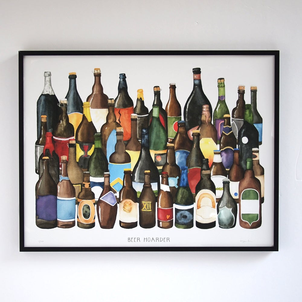Image of Beer Hoarder - Limited Edition Craft Beer Print