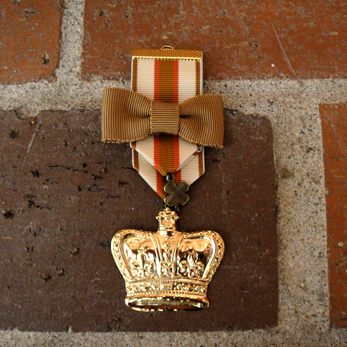 Image of Gilded Crown Military Badge