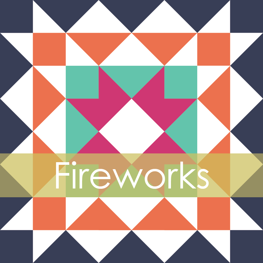 Image of Fireworks Mini Quilt #105, PDF Pattern