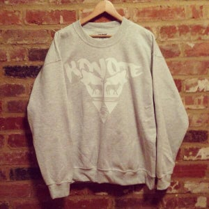 Image of White Print Koyote Crew neck
