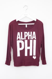 Image of Alpha Phi Long Sleeve Tee