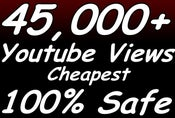 Image of GET 45K OR 120K OR 200K OR 350K UP TO 500K YOUTUBE VIEWS