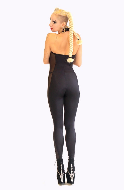 Image of TROPICAL TRIP CATSUIT with black sheer sides