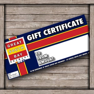 Image of GSB GIFT CERTIFICATE