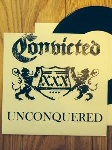 "Image of CONVICTED Unconquered 7"" TEST PRESS (pre-Harms Way)"