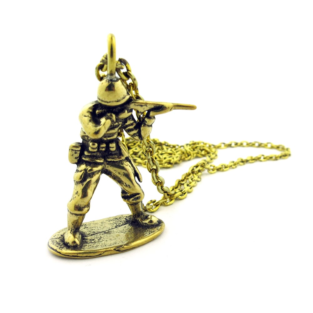 Image of Vintage Casted Army Man Necklace